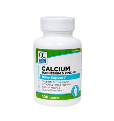 Calcium, Magnesium & Zinc + D Tablets 100 Ct