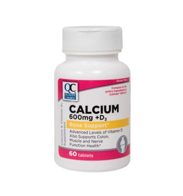 Calcium 600 Mg W/Vitamin D Tablets 60 Ct