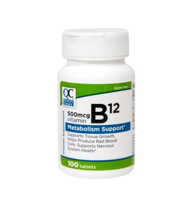 Vitamin B-12 500 Mcg Tablets 100 Ct