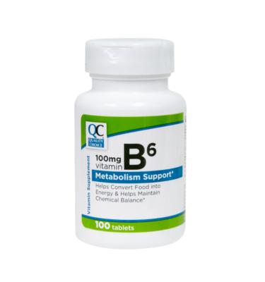 Vitamin B-6 100 Mg Tablets 100 Ct