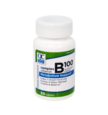 Vitamin B-100 Complex PR Tablets 50 Ct