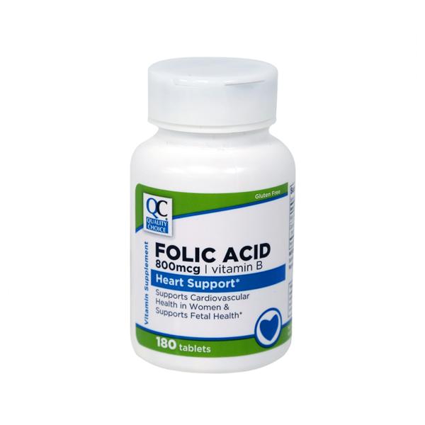 Folic Acid 800 Mcg Tablet 180 Ct.