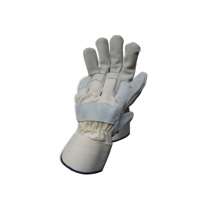 Premium WHITE-GREY LTHR GLOVE
