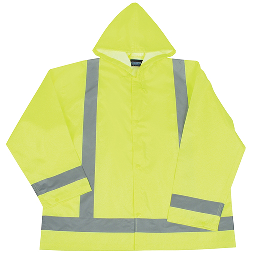 Jacket (Rain) Hi-Vis Lime Green