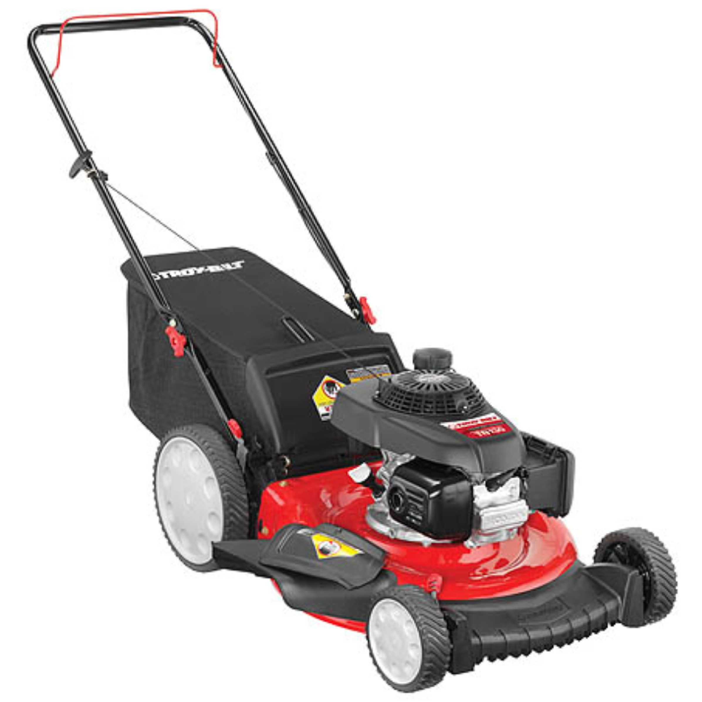 troy bilt mower troybilt tb130 21 quot triaction high wheel push mower 160cc 29179