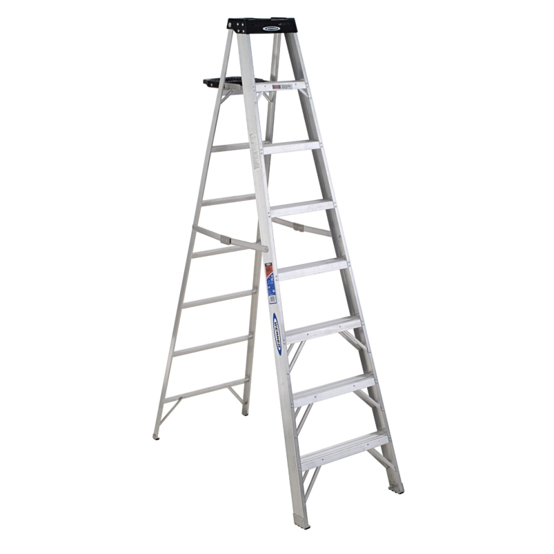 Werner 378 Aluminum 8ft Stepladder -  with 300lb Duty Rating ,