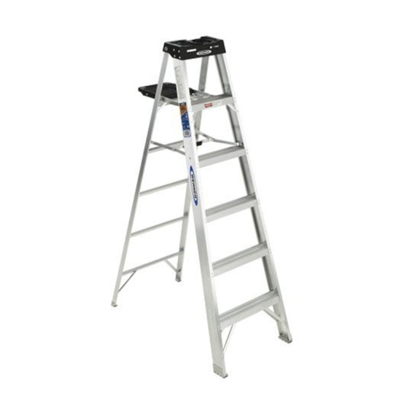 Werner 376 300-Pound Duty Rating Aluminum Stepladder, 6ft