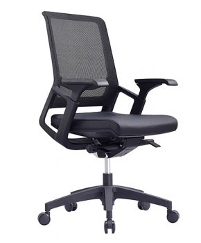 Titan Mid Mesh Back Leather Executive Chair