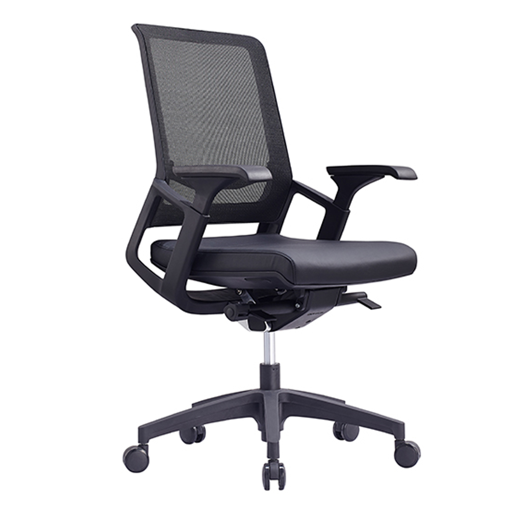 24465_Titan Mid Mesh Back Leather Executive Chair
