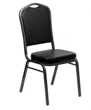 Crown Back Stacking Chair - Vinyl