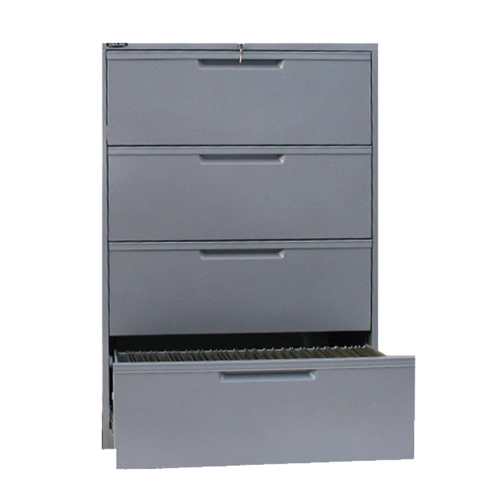 24781_Sterling 4 Drawer Lateral Filing Cabinet 36 - Satin Silver