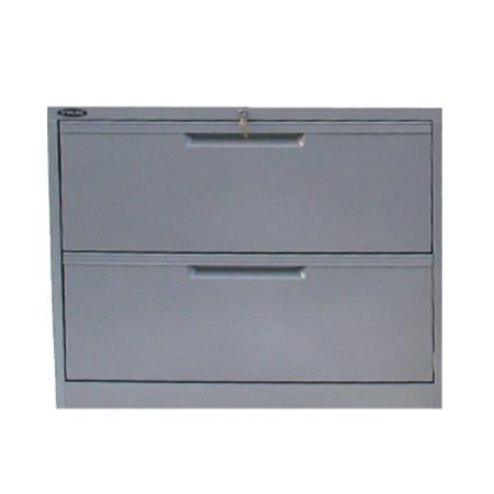 24785_Sterling 2 Drawer Lateral Filing Cabinet - Satin Silver