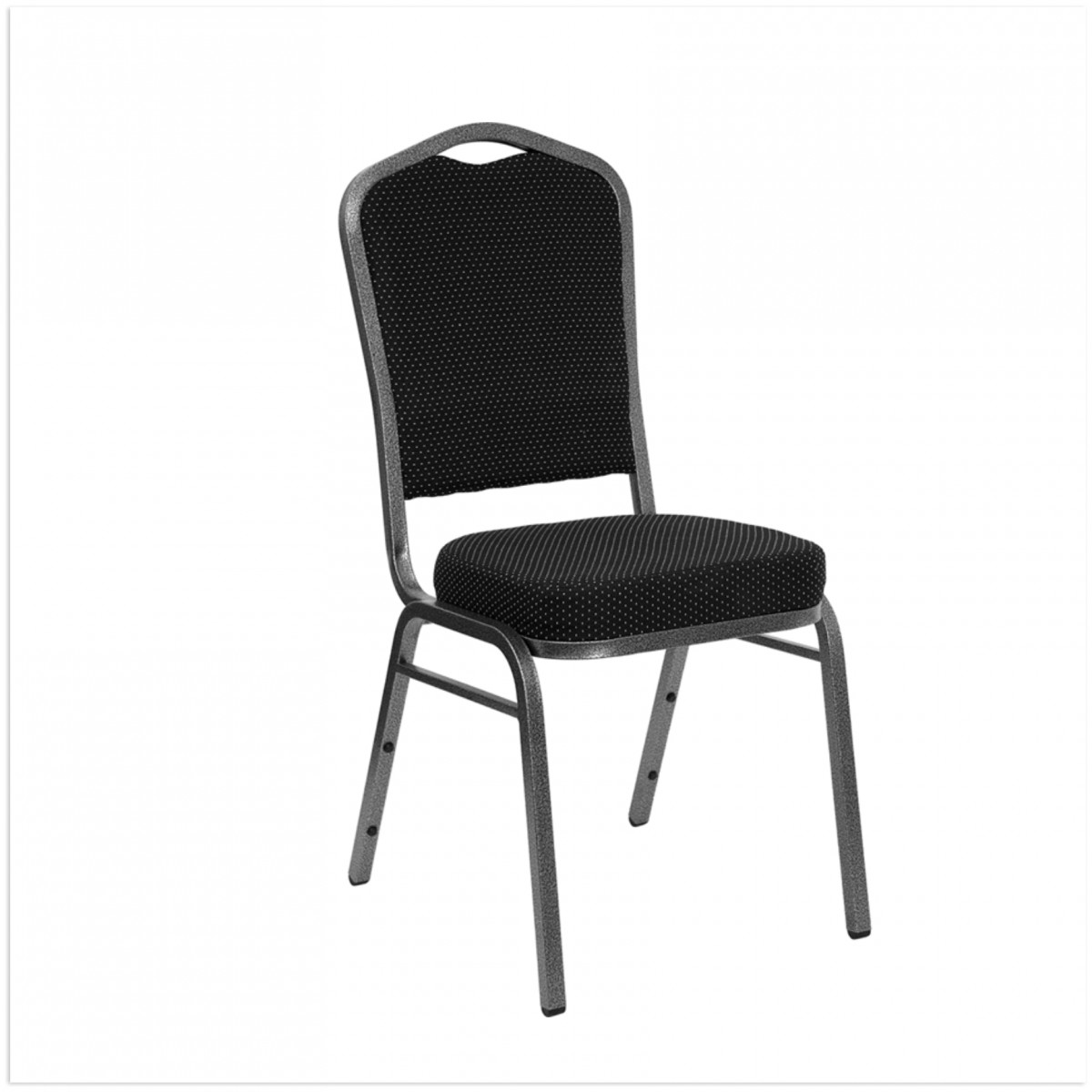 25171 Crown Back Stacking Chair - Dotted Fabric