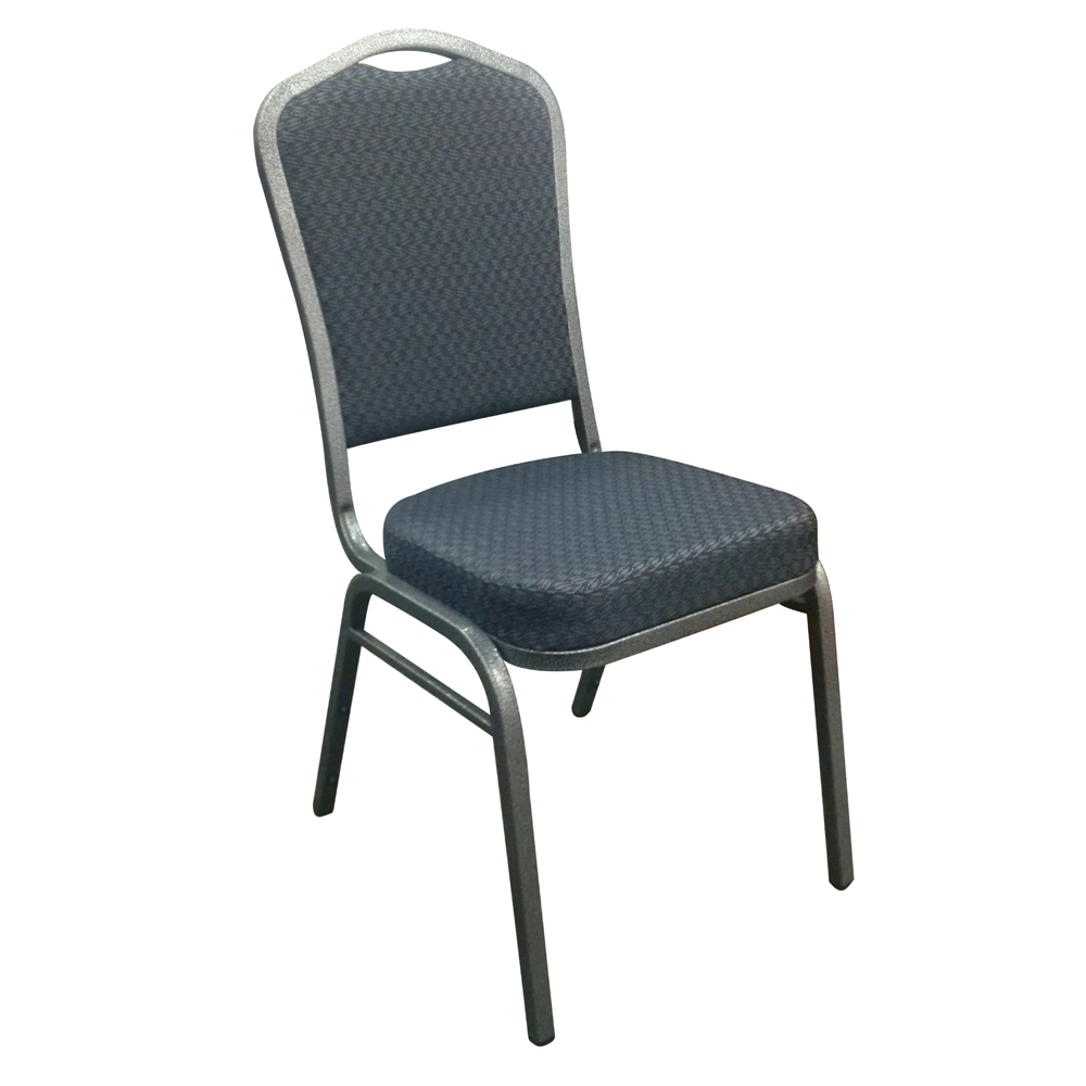 25171_Crown Back Stacking Chair, Patterned Fabric
