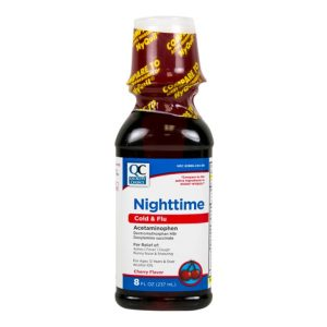 Nighttime Cold & Flu Cherry Liquid